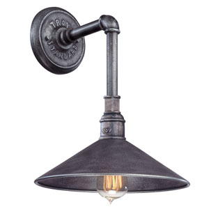 Toledo Old Silver One-Light 15-Inch Outdoor Wall Mount