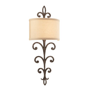 Cottage Bronze Crawford Two-Light Wall Mount