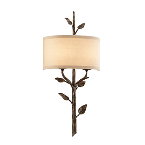 Bronze Leaf Almont Two-Light Wall Mount
