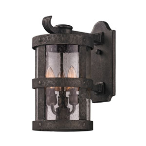 Bronze Barbosa Medium Three-Light Wall Mount