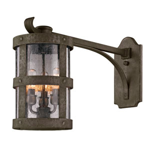 Bronze Barbosa Extended Three-Light Wall Mount