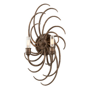 Revolution Bronze Two-Light Large Wall Sconce