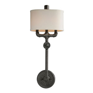 Conduit Old Silver Two Light Wall Sconce