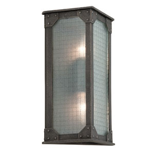 Hoboken Aged Pewter Two Light Wall Sconce
