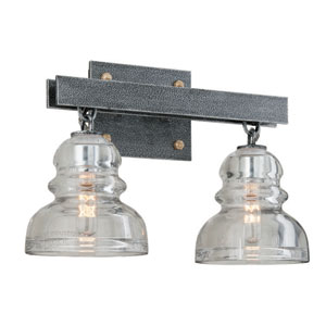 Menlo Park Old Silver Two Light Vanity Fixture