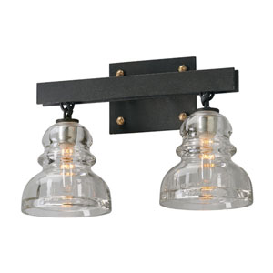Menlo Park Deep Bronze Two Light Vanity Fixture