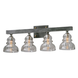 Menlo Park Deep Bronze Four Light Vanity Fixture
