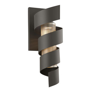 Vortex Bronze One-Light Eight-Inch LED Outdoor Wall Sconce