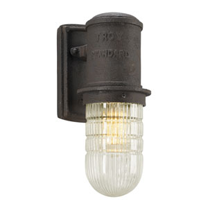 Dock Street Centennial Rust One-Light Four-Inch Wall Outdoor Sconce
