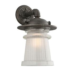 Pearl Street Charred Zinc One-Light Ten-Inch Outdoor Wall Sconce