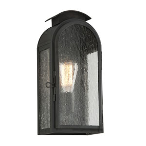 Copley Square Charred Iron One-Light Six-Inch Outdoor Wall Sconce