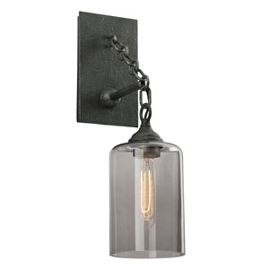 Gotham Aged Silver One-Light Wall Sconce