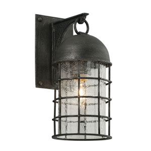 Charlemagne Aged Pewter One-Light Outdoor Wall Sconce