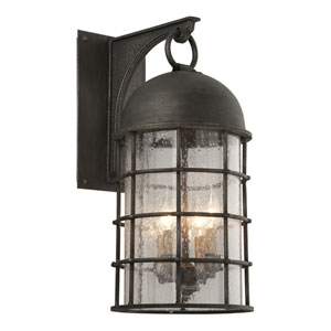 Charlemagne Aged Pewter Four-Light Outdoor Wall Sconce