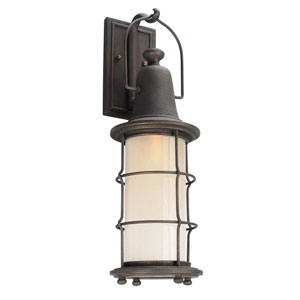 Maritime Vintage Bronze One-Light Seven-Inch Outdoor Wall Sconce