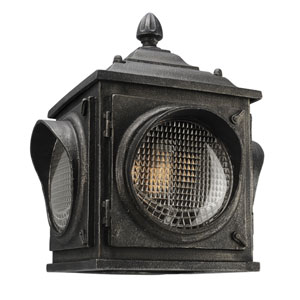 Main Street Aged Pewter Three-Light Outdoor Wall Sconce