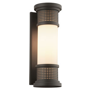 Mcqueen Bronze One-Light Five-Inch Outdoor Wall Sconce with Marine Grade Finish