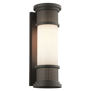 Mcqueen Bronze One-Light Six-Inch Outdoor Wall Sconce with Marine Grade Finish