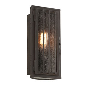Joplin Charred Bronze One-Light Six-Inch Outdoor Wall Sconce