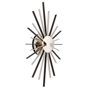 Atomic Polished Nickel One-Light LED Wall Sconce