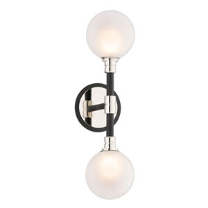 Andromeda Carbide Black Two-Light Wall Sconce