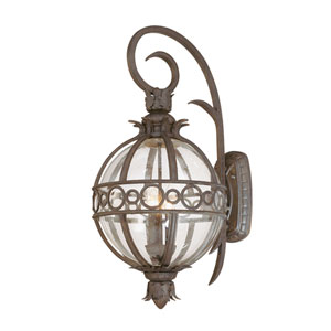 Campanile Campanile Bronze Three-Light Outdoor Wall Lantern