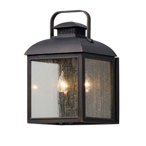 Chamberlain Vintage Bronze Three-Light Outdoor Wall Lantern