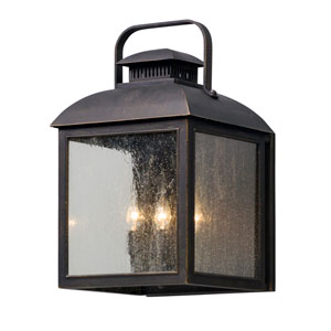 Chamberlain Vintage Bronze Four-Light Outdoor Wall Lantern