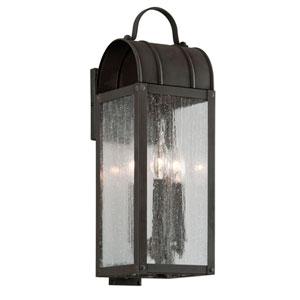 Bostonian Charred Iron Two-Light Outdoor Wall Lantern