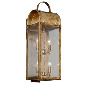 Bostonian Historic Brass Four-Light Outdoor Wall Lantern