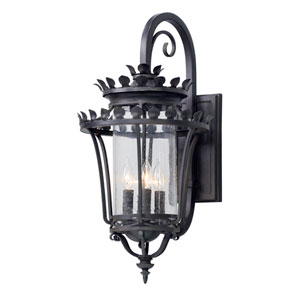 Greystone Forged Iron Four-Light Outdoor Wall Lantern