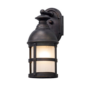 Webster Vintage Bronze 6-Inch One-Light Outdoor Wall Lantern