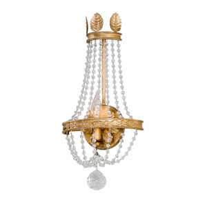 Viola Distressed Gold Leaf One-Light Wall Sconce