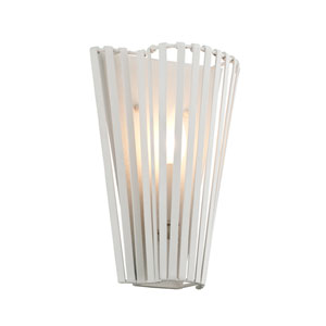 Tides Textured White 9-Inch One-Light Wall Sconce