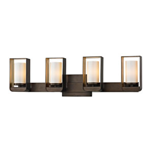 Escape Bronze and Gold Leaf Four-Light LED Bath Vanity