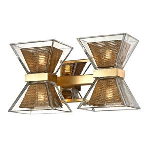 Expression Gold Leaf Four-Light LED Bath Vanity