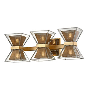Expression Gold Leaf Six-Light LED Bath Vanity