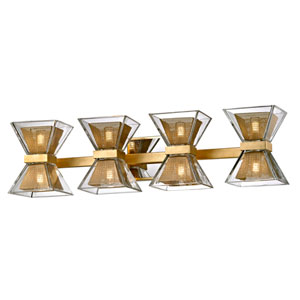 Expression Gold Leaf Eight-Light LED Bath Vanity