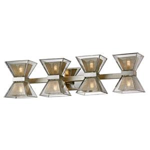 Expression Silver Leaf Eight-Light LED Bath Vanity