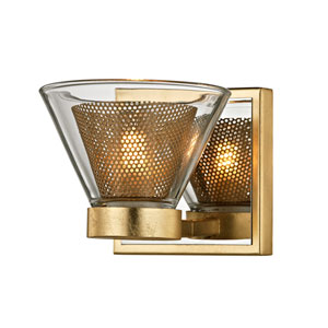 Wink Gold Leaf with Polished Chrome Accents LED Bath Vanity
