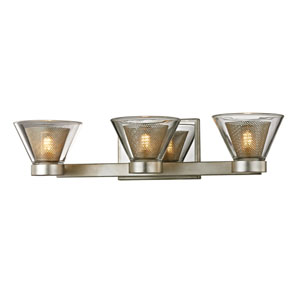 Wink Silver Leaf with Polished Chrome Accents Three-Light LED Bath Vanity