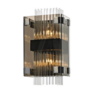 Apollo Dark Bronze and Polished Chrome Wall Sconce