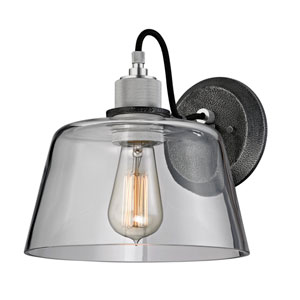 Audiophile Old Silver and Polished Aluminum Wall Sconce