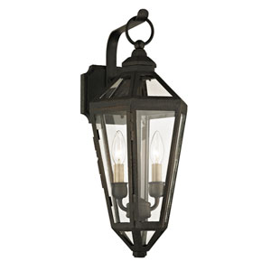 Calabasas Vintage Bronze Two-Light Outdoor Wall Sconce with Dark Bronze