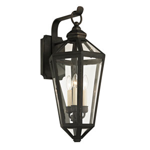 Calabasas Vintage Bronze Three-Light Outdoor Wall Sconce with Dark Bronze