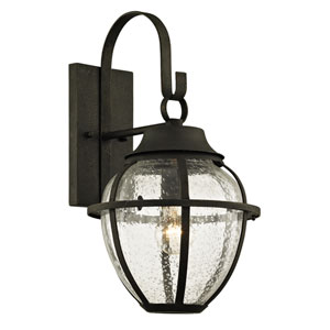 Bunker Hill Vintage Bronze One-Light Outdoor Wall Sconce with Clear Seeded Glass