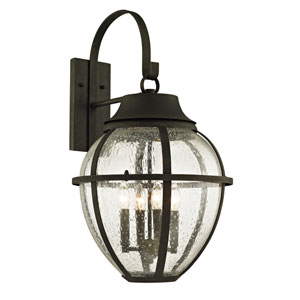 Bunker Hill Vintage Bronze Four-Light Outdoor Wall Sconce with Clear Seeded Glass