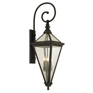 Geneva Vintage Bronze Extra Large Four-Light Outdoor Wall Sconce with Clear Seeded Glass