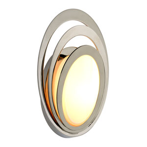 Stratus Opal White Glass Small LED Outdoor Wall Sconce