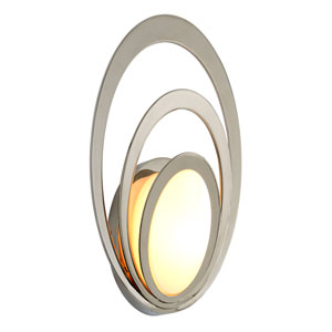 Stratus Opal White Glass Medium LED Outdoor Wall Sconce
